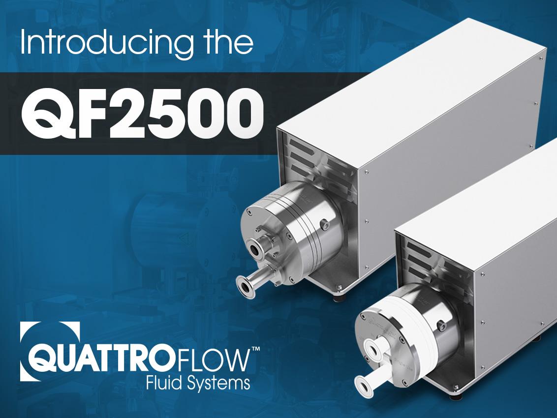 Quattroflow Introduces QF2500 Quaternary Diaphragm Pumps for Biopharmaceutical Processing